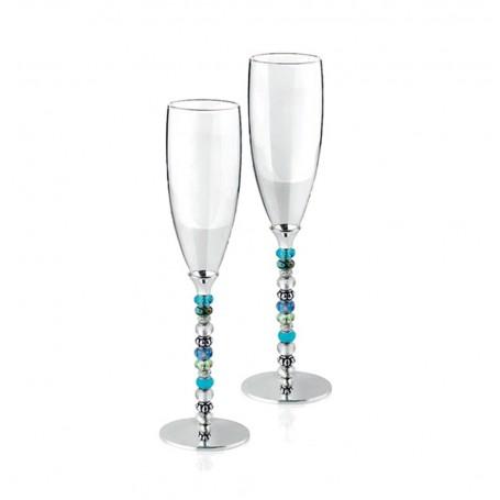 Ottaviani murano Crystal flutes pair