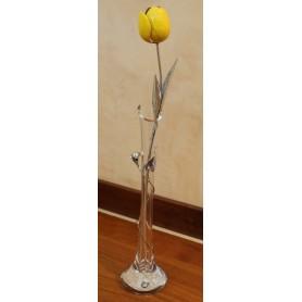 Opera tulipano smaltato giallo
