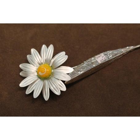 Daisy silver enamel work