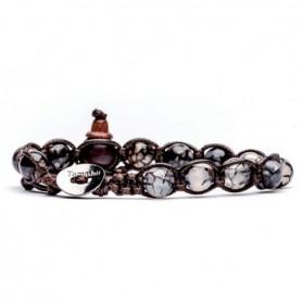 Tamashii grey agate bracelet cracked BHS900/56