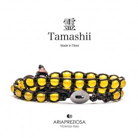 Tamashii yellow agate bracelet BHS600-62