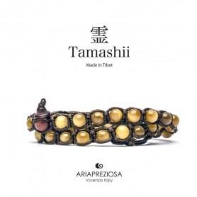 Tamashii bracciale occhio di tigre dorato BHS600-80