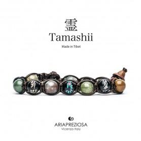 Tamashii bracciale mantra agata muschiata BHS200/17