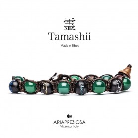 Tamashii Зеленый агат BHS200/12 мантру браслет
