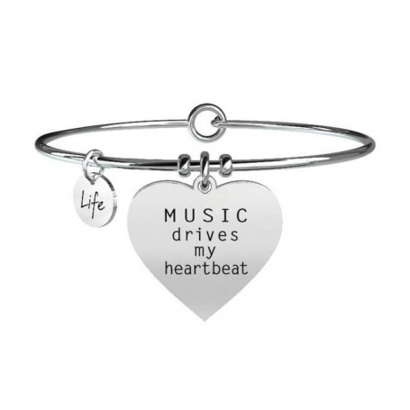 Kidult bracciale rigido Music drives my heartbeat - 731094