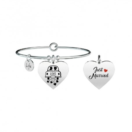 Kidult bracciale rigido Cuore|Just Married - 731297