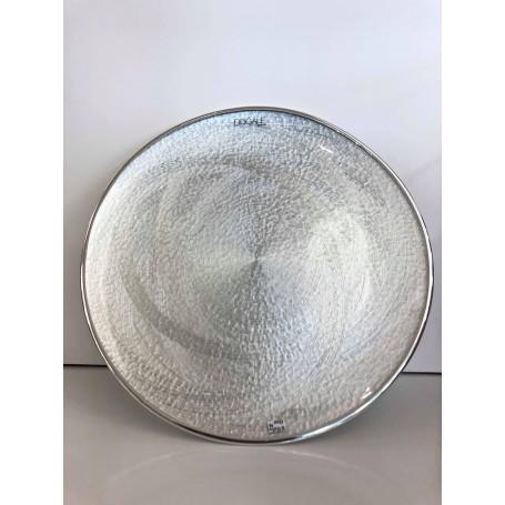 Dogale piatto centrotavola tondo argentato   51.35.0510