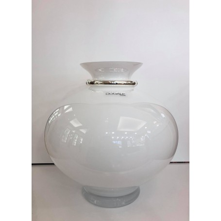 Dogale vaso in cristallo bianco | 51.36.9622