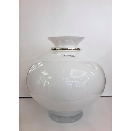 Dogale vaso in cristallo bianco   51.36.9622