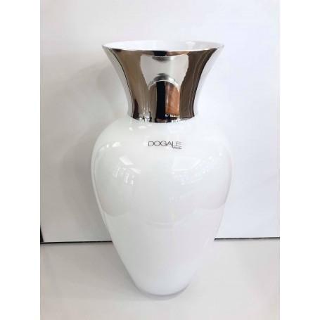 Dogale vaso in cristallo smaltato bianco| 51.36.9500