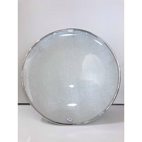 Dogale piatto centrotavola smaltato argento| 51.36.0531