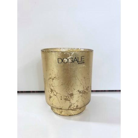 Dogale candela profumata in cristallo dorato  51.30.9517