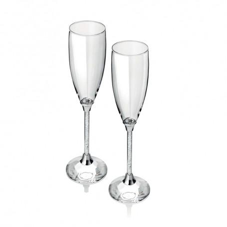 Ottaviani coppia di flutes in cristallo| 77049