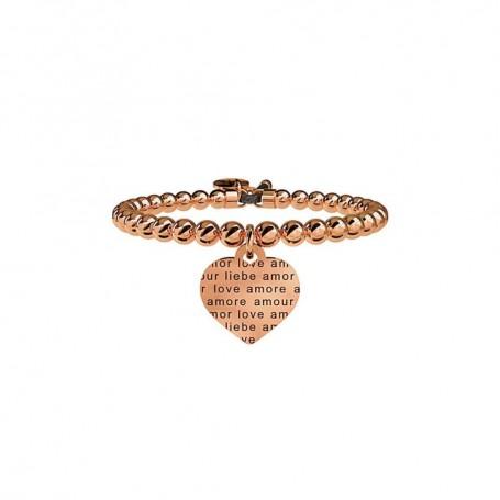 Kidult bracciale pvd rosè Cuore|Amore senza confini - 731052