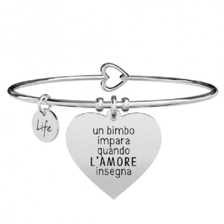 Kidult bracciale rigido Cuore|L'amore insegna - 731292
