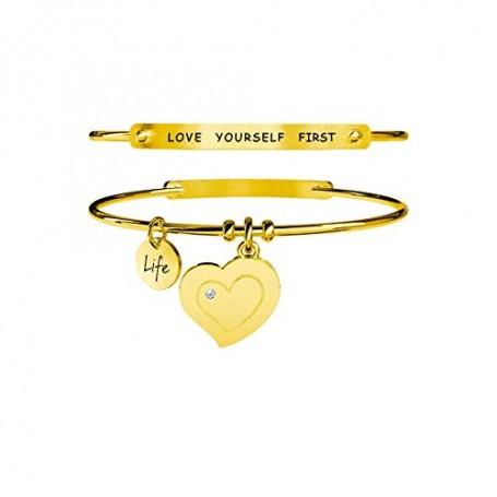 Kidult bracciale rigido pvd dorato Cuore|Autostima - 231654