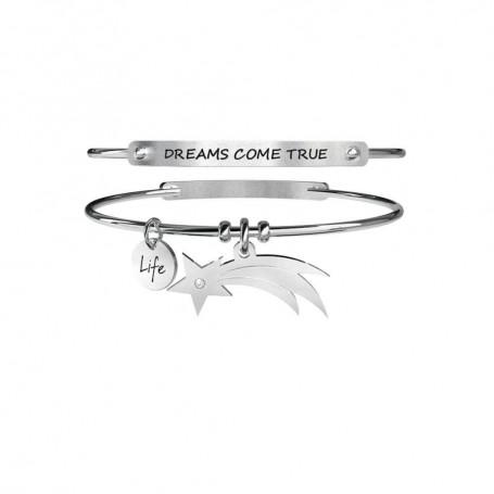 Kidult bracciale rigido in acciaio Stella Cadente|Sogno - 731076