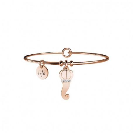 Kidult bracciale rigido in acciaio pvd rosè Cornetto|Protezione - 731013