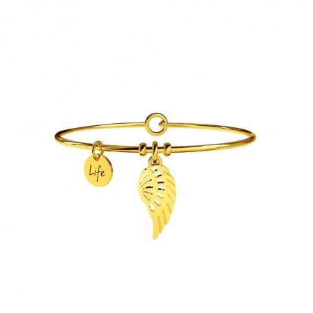 Kidult bracciale rigido in acciaio pvd gold Ala Libertà - 231598