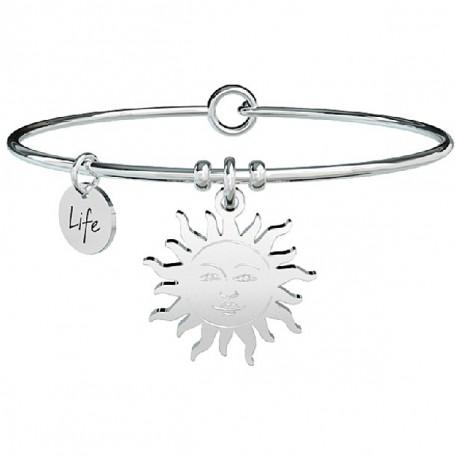 Kidult bracciale rigido in acciaio Sole|Sorriso - 731322