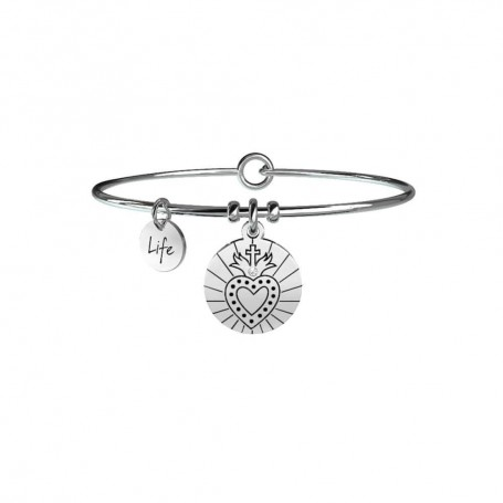 Kidult bracciale rigido in acciaio Sacro Cuore|Spiritualità collezione LIFE Spirituality | 731068