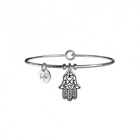 Kidult bracciale rigido in acciaio Mano di Fatima|Protezione collezione LIFE Spirituality | 231547