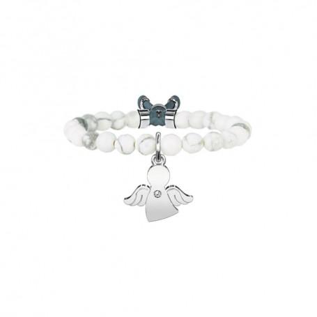 Kidult bracciale in aulite e cristalli Angelo|Protezione collezione LIFE Spirituality | 731138