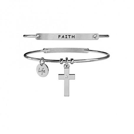 Kidult bracciale rigido in acciaio Croce|Fede collezione LIFE Spirituality | 231671