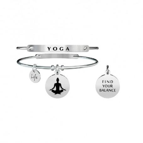 Kidult bracciale rigido in acciaio Yoga|Equilibrio collezione LIFE Spirituality | 731284