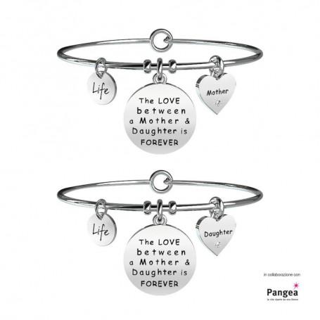 Kidult due bracciali in acciaio Mamma&Figlia|Forever collezione LIFE Family | 231578