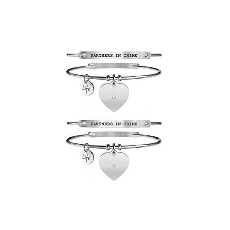 Kidult due bracciali in acciaio Partners in Crime collezione LIFE Love | 731101