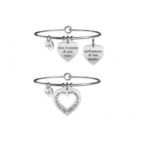 Kidult due bracciali in acciaio Mamma&Figlia|Vero Amore collezione LIFE Family | 731098