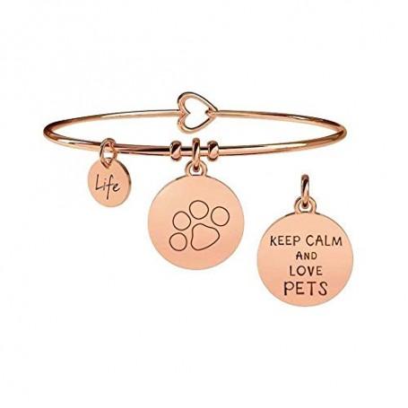 Kidult bracciale rigido in acciaio pvd rosè PET collezione LIFE Family | 731020