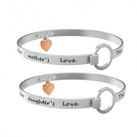 Kidult due bracciali in acciaio Mamma&Figlia|Love collezione LIFE Family | 731106