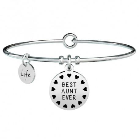 Kidult bracciale rigido in acciaio BEST AUNT EVER collezione LIFE Family | 731300