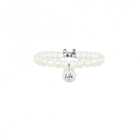 Kidult bracciale con perle coltivate e inserti in acciaio Perla|Bellezza collezione LIFE Symbols| 231535