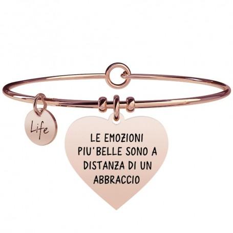 Kidult bracciale rigido in acciaio pvd rosè Cuore|Emozioni collezione LIFE Love | 731355