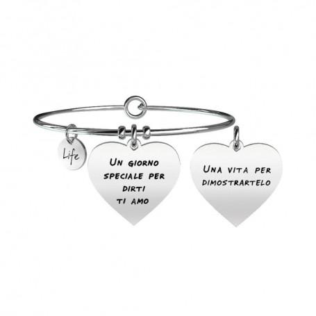 Kidult bracciale rigido in acciaio collezione LIFE Love|731097