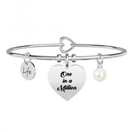 Kidult bracciale rigido in acciaio Cuore|One in a Million collezione LIFE Love | 731260