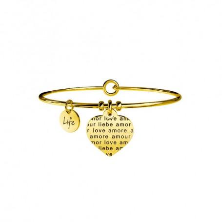 Kidult bracciale rigido in acciaio pvd gold Cuore|Amore senza confini collezione LIFE Love | 231607