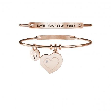 Kidult bracciale rigido PVD rosè Cuore|Autostima - 731631