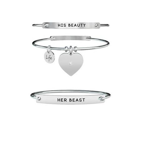 Kidult due bracciali rigidi Lui & Lei|Beauty & Beast collezione LIFE Love - 731360