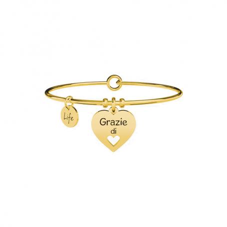 Kidult bracciale rigido PVD gold Cuore|Grazie collezione LIFE Love - 731636