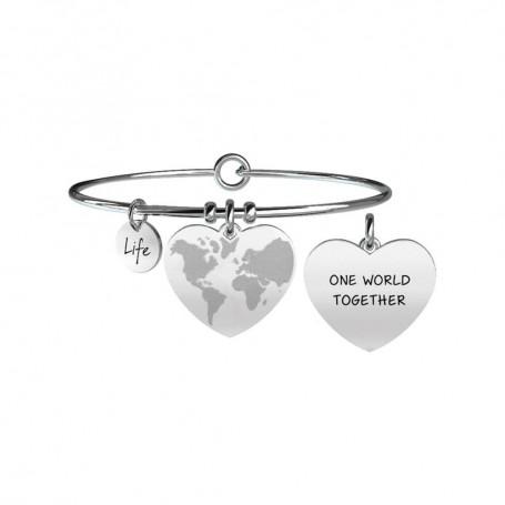 Kidult bracciale rigido Mondo a Cuore|Fratellanza collezione LIFE Love - 731089