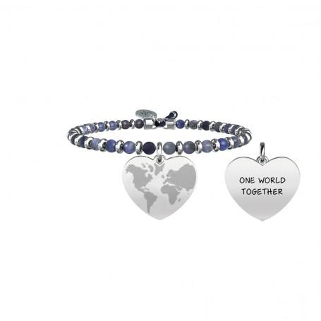 Kidult bracciale con pietra sodalite Mondo a Cuore|Fratellanza collezione LIFE Love - 731434
