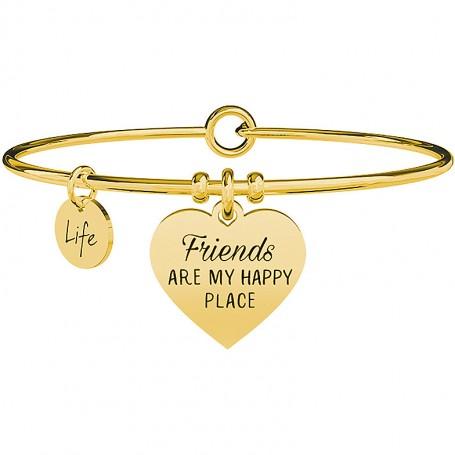 Kidult bracciale rigido PVD gold Cuore Friends collezione LIFE Love - 731638
