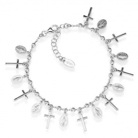 Amen bracelet Crosses and Miraculous Pray, Love collection - BRCMB