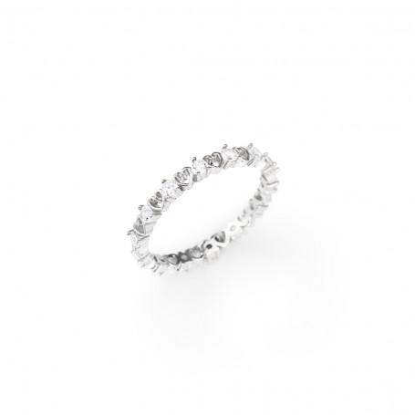 Amen anello Cuore con zirconi collezione Stackable | RZ7