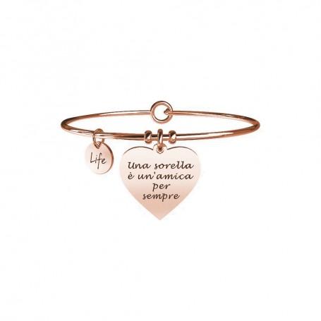 Kidult bracciale rigido PVD Rosè Cuore|Sorella collezione LIFE Family - 731650