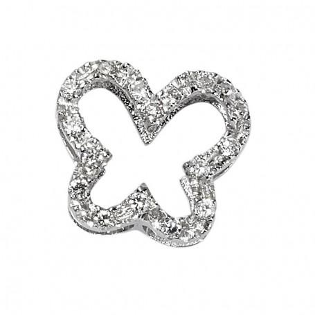 DonnaOro Elements Farfalla grande in Oro bianco 18 kt e Diamanti   DCHF5064.006